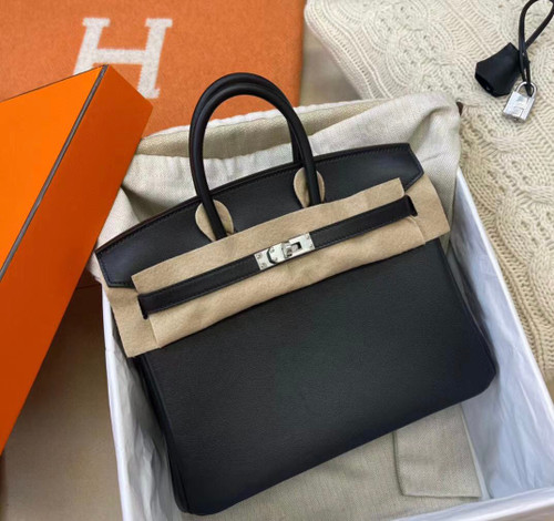 Hermes Black Birkin 25cm Swift Palladium Hardware 2020