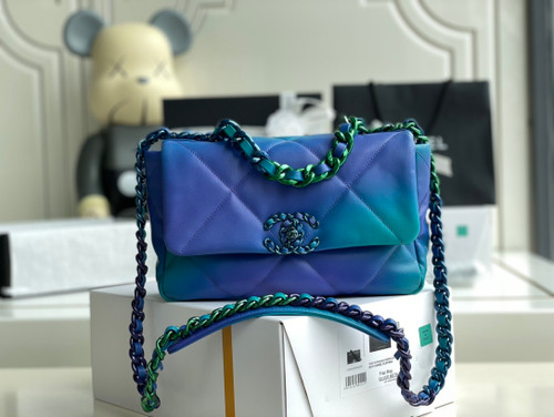 Chanel Tie and Dye Calfskin chanel 19 flap bag