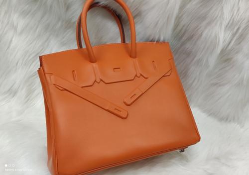 Hermes Shadow Birkin 25 Bag Orange Evercalf Limited Edition