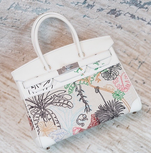 [Online Exclusive]Hermes Faubourg Tropical Birkin 30 White