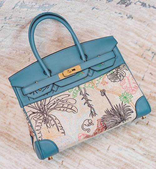 [Online Exclusive] Hermes Faubourg Tropical Birkin 30 Blue