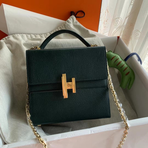 Hermes Cinhetic bag 6O Vert Cypres