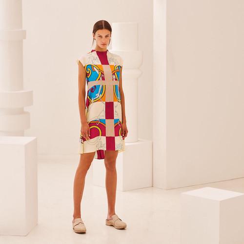 """Hermes """"L'Instruction du Roy Zoom"""" flared dress"""