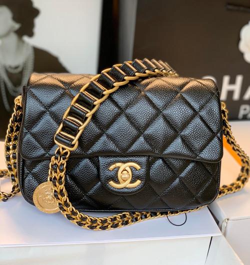 Chanel FW2021 SMALL FLAP BAG AS2528 BLACK