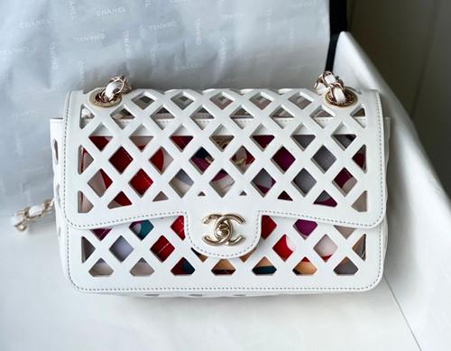 Chanel FLAP BAG AS2370 White