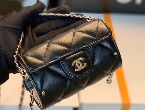 Chanel JEWEL CARD HOLDER WITH CHAIN