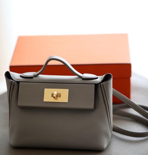 Hermès Mini 24/24 – 21 Bag M8 GRIS ASPHALT Evercolor/Swift leather