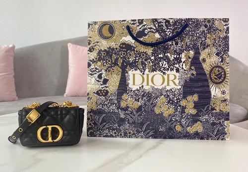 Christian Dior MICRO DIOR CARO BAG Black