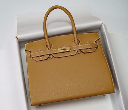 Hermes Birkin 30 Sellier Gold Madame Grain Gold Hardware