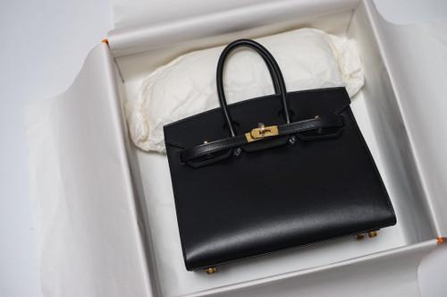 Hermes Birkin 25 Sellier Box Leather Gold Hardware