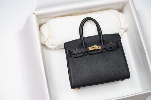 [Exclusive] Hermes Black Birkin 20cm Epsom Gold Hardware