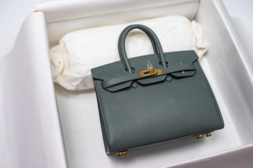 [Exclusive] Hermes Vert Amande  Birkin 20cm Epsom Gold Hardware