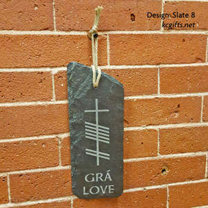 Ogham Sign - Irish - Celtic, engraved slate sign., engraved stone