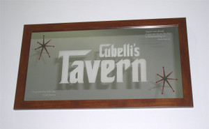 "Custom Bar Mirrors - 12"" x 24"" one color WITH Frame"