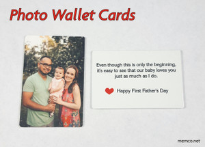 Wallet Card with Photos - Military Note Card - Wallet Insert Note Card -Wedding Gift - Love Note - Anniversary Gift - Baby Photo - Engaged