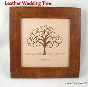 Leather Wedding Tree Sign