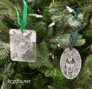 Personalized Christmas Ornament - Pets Photo - First Christmas Together - Baby's First Christmas - Pet Ornament - SET OF THREE