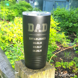 Polar Camel Insulated Mug - Dad Established Mug - Personalized Engraved Polar Camel YETI Clone  - for the GREATEST DAD EVER!