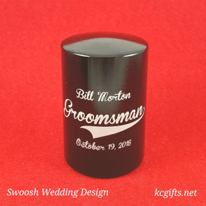 Automatic Bottle Opener - SWOOSH WEDDING DESIGN - groomsman gift, best man gift, bridal party gift.