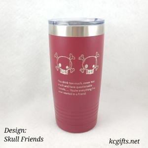 Polar Camel Insulated Mug - Best Friends Skull Mug