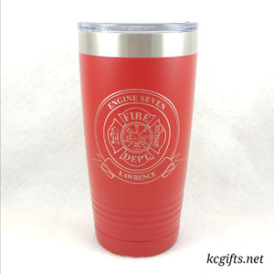 Polar Camel Insulated Mug - Personalized Firefighter Maltese Cross with your Truck Number and City