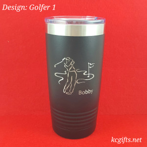 Polar Camel Insulated Mug - Personalized Mug for the Golfer