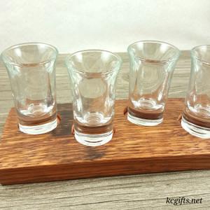 Whiskey Stave Shot Glass Set