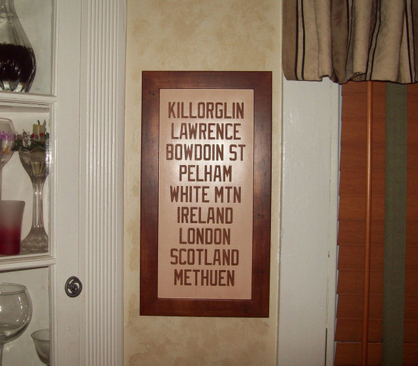 Irish Celtic Family Name Sign, Irish Wedding Gift, Anniversary Gift, 3rd Wedding Anniversary, Third Anniversary, Leather Anniversary