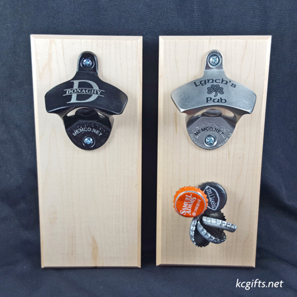 Best Man Gift Magnetic Engraved Bottle Opener - Stainless Steel or Black - Free Personalization!