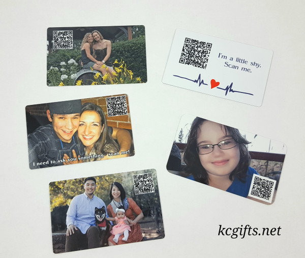 Wallet Card with Photo and Voice Recording - Military Deployment - Wallet Insert Note Card - Wedding Gift - Love Note - Anniversary Gift