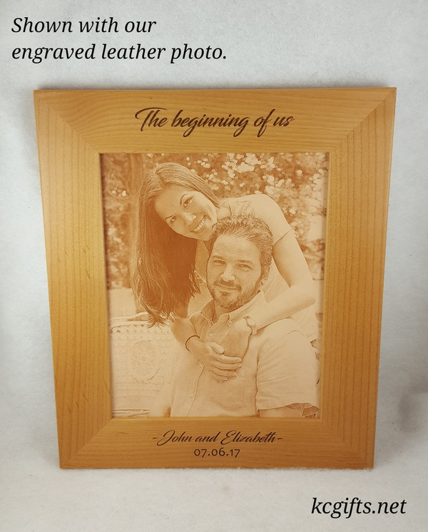 """8"""" x 10"""" Engraved Picture Frame, Personalized with your Wedding, Family or Pet information."""