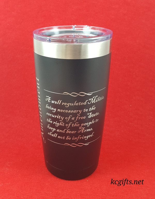 Polar Camel Insulated Mug - 2nd Amendment Engraved Polar Camel YETI Clone  - Gift for Gun Lovers