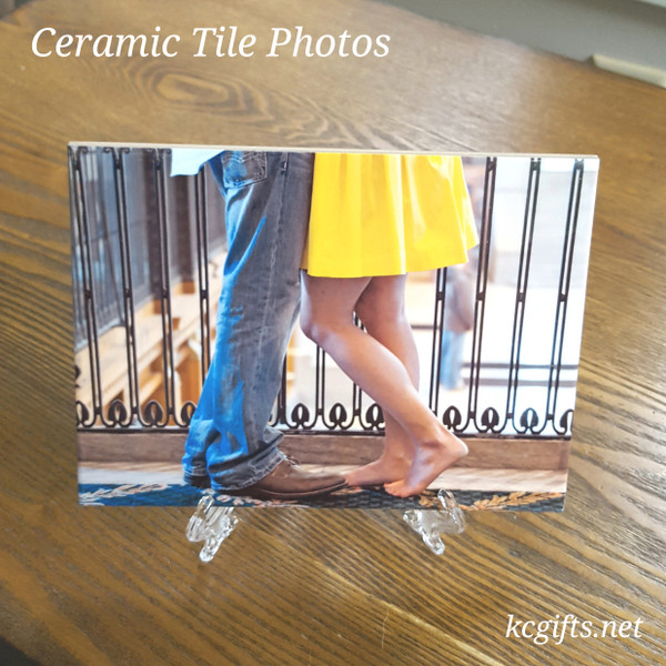 Ceramic Tile printed with your favorite photo.  Baby photo, Wedding Photo, Travel, or anything else.