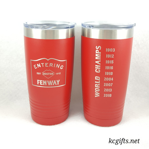Polar Camel Insulated Mug - Boston Red Sox Championship Insulated Mug - featuring all chamionship years.