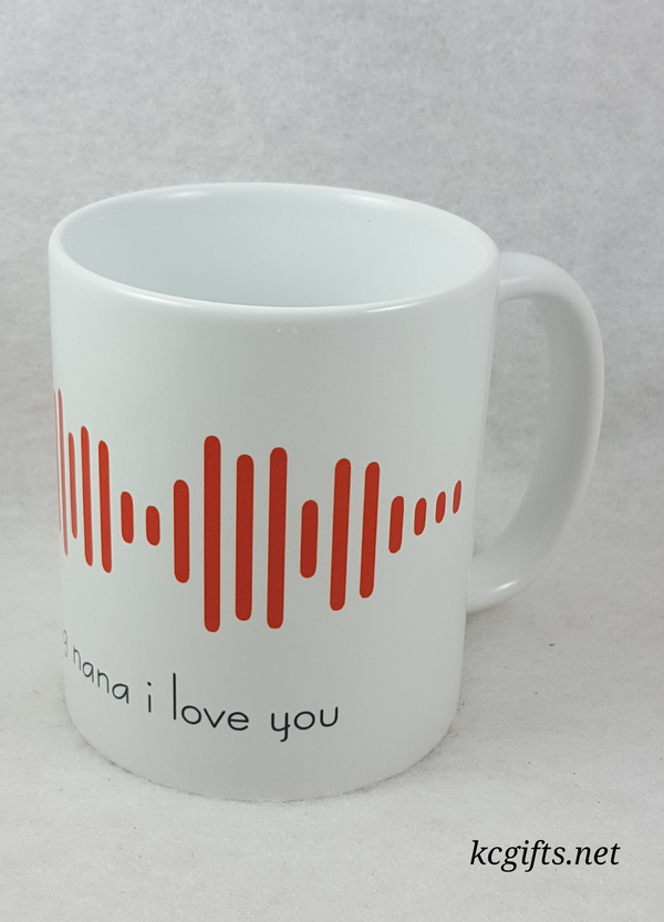 Soundwave Sign made with Your Voice Baby's Sonogram