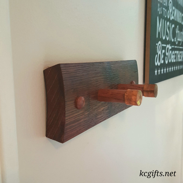 Whiskey Stave Dog Leash and Collar Holder