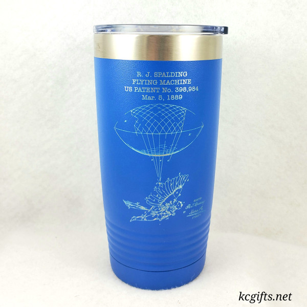 Polar Camel Insulated Mug - Vintage United States Aviation Patents