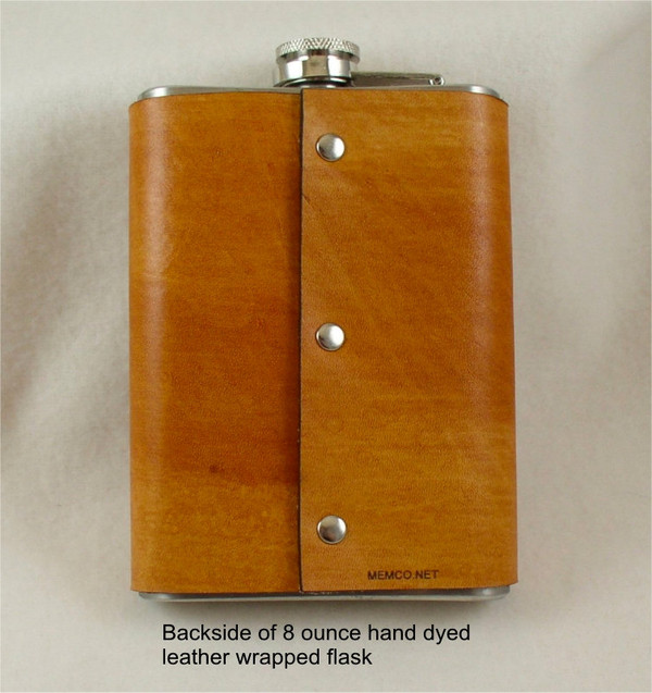 Leather Flask engraved with your Clan Badge - Leather Flask - Wedding Flask - Groomsman Gift - Best Man Gift -8 ounce