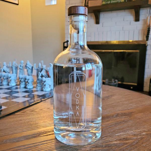 Vodka Decanter with Vintage Retro Design