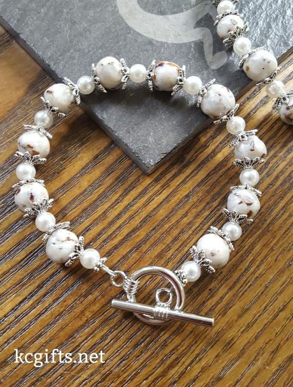 Memorial Flower Bracelet or Set of Ear Rings - Funeral Flower Bracelet - Wedding Bouquet Bracelet - Funeral Flower Jewelry - Funeral Flowers