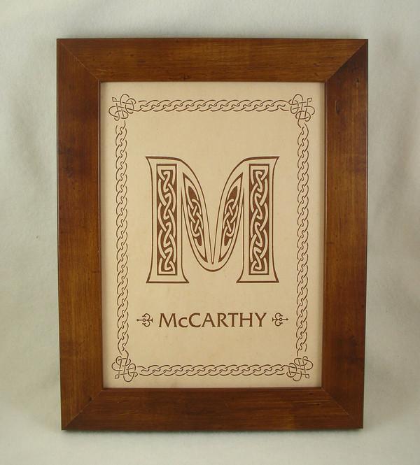 Irish Celtic Family Name Sign Irish Wedding Gift Anniversary Gift