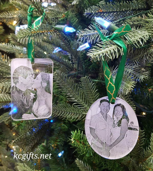 Personalized Christmas Ornament Engraved With Your Favorite Photo
