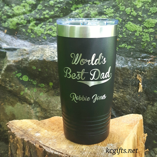 Polar Camel Insulated Mug - World's Best Dad - Personalized Engraved Polar Camel YETI Clone  - for the BEST DAD EVER!