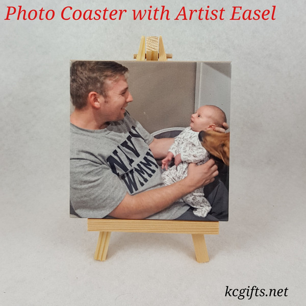 Ceramic Tile printed with your favorite photo.  Baby Photo, Wedding Photo, Pets, Travel, or anything else.