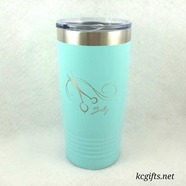 Polar Camel Insulated Mug - Personalized Hairdresser design.