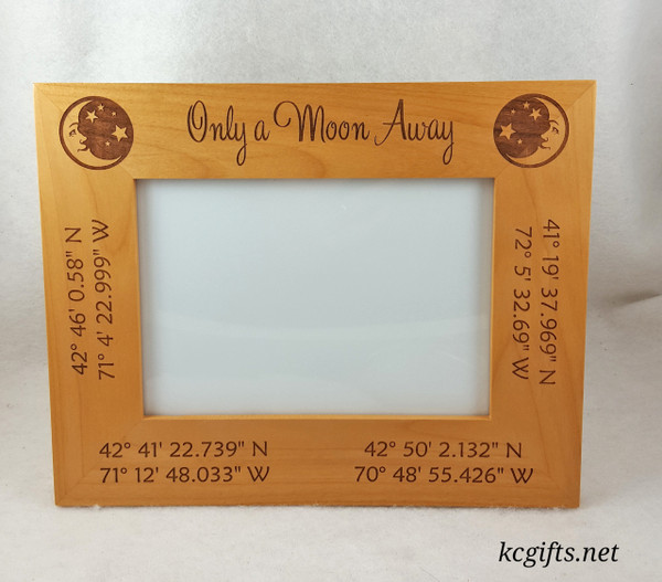"4"" x 6"" Engraved Picture Frame, Personalized with your Wedding, Family or Pet information."
