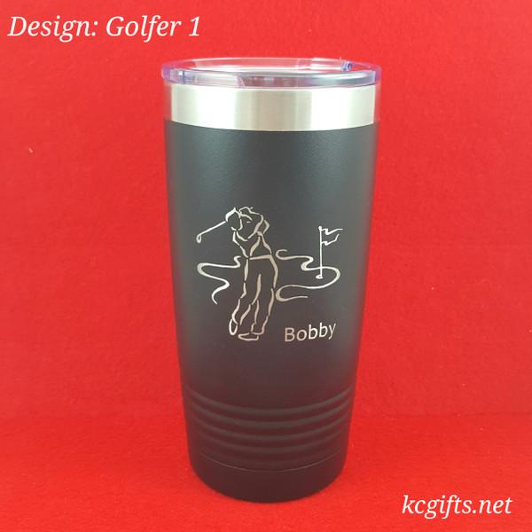 Polar Camel Insulated Mug - Personalized Mug for the Golfer