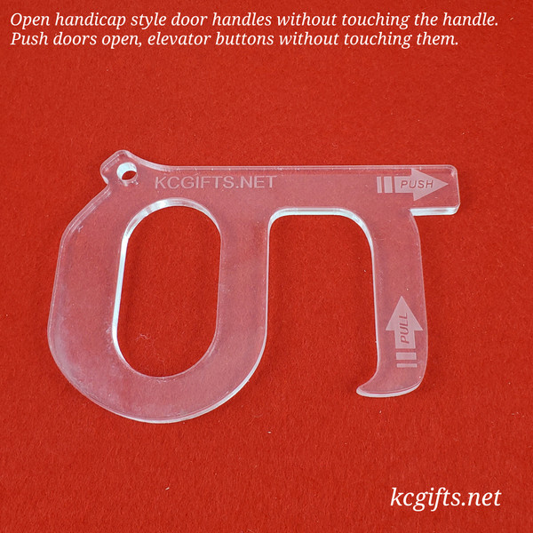 No Touch Door Opener and Closer for a safer environment. - Free Shipping - Funds our donation of face shields.