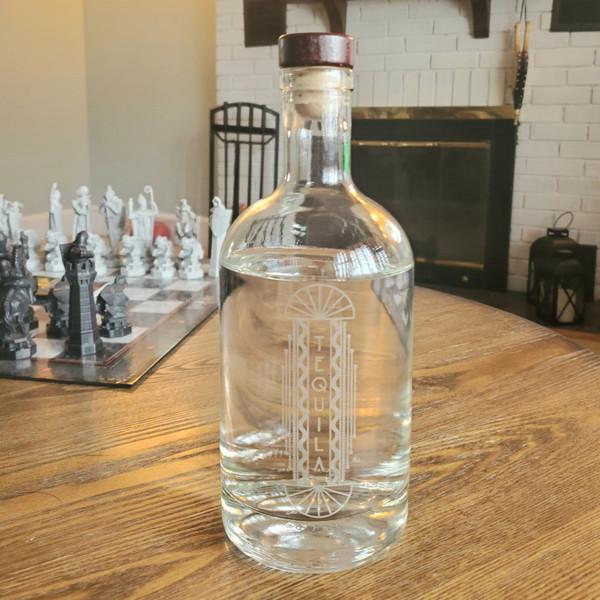 Tequila Decanter with Vintage Retro Design