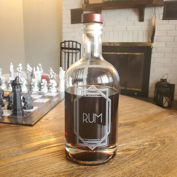 Rum Decanter with Vintage Retro Design